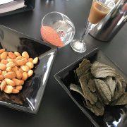 Tangchips og mælkebøtteshots